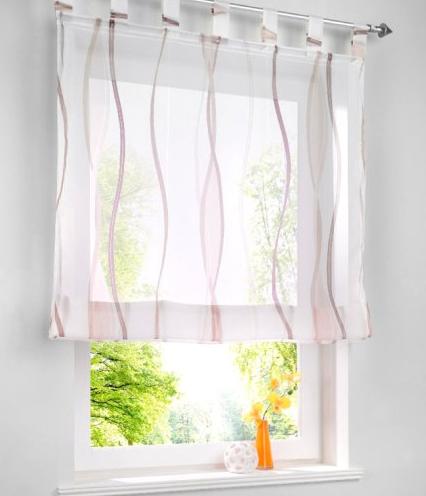 raffrollo transparent simpvale raffrollo mit schlaufen gardinen voile rmischen liter fall. Black Bedroom Furniture Sets. Home Design Ideas